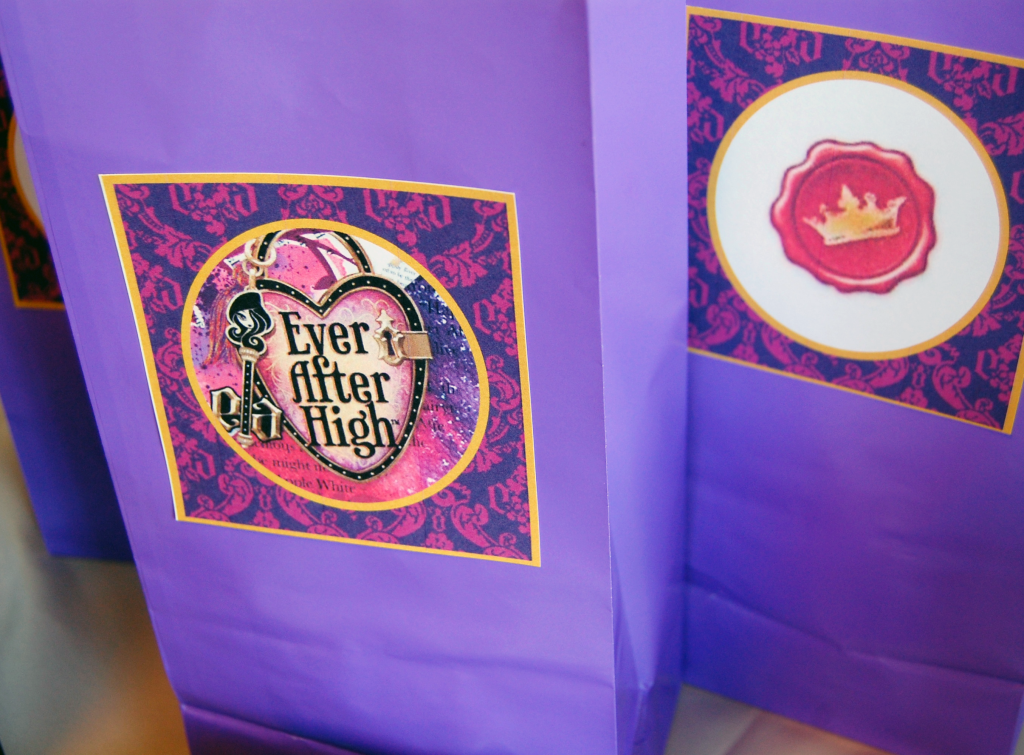 Ever After High party Favor bags