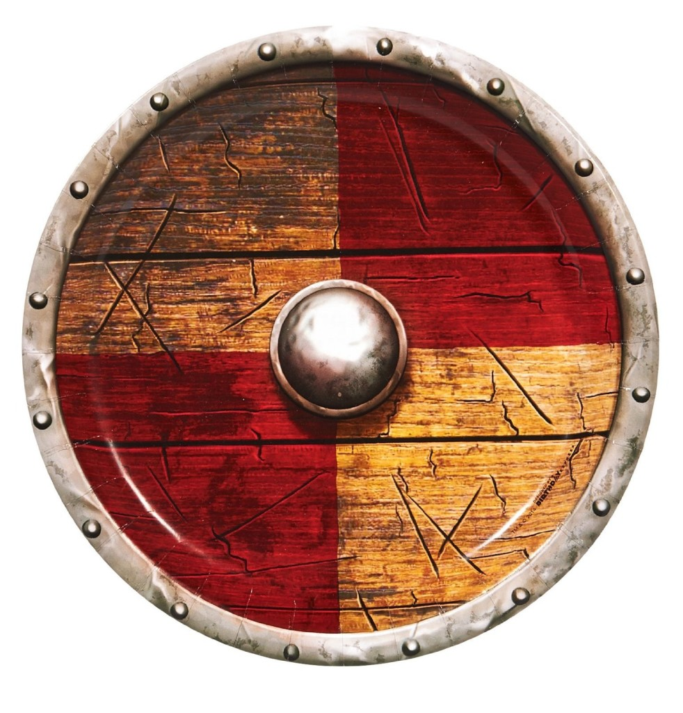 Shield dinner plates (Amazon.com) would be the perfect way to serve your clan a hearty feast.
