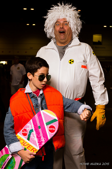 Back to the future cosplay costumes by Howie Muzika via Flickr