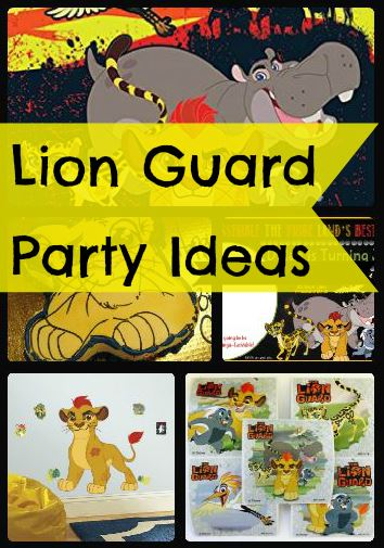 Lion guard birthday party ideas and themed supplies