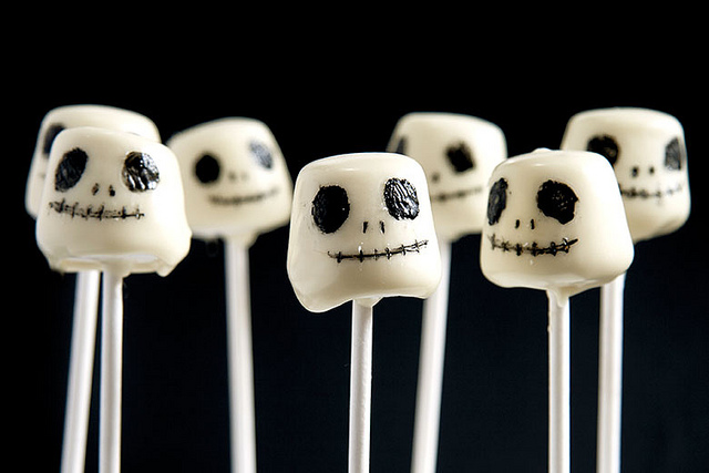 jack skellington cake pops by Crumbs & Corkscrews via Flickr