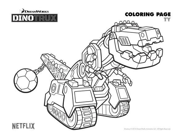 dinotrux coloring pages courtesy of dreamworks