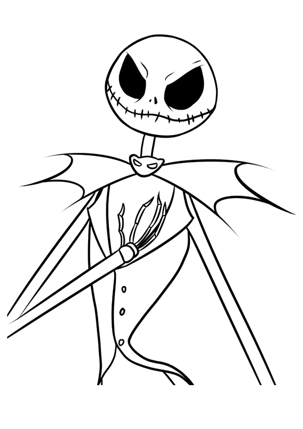Nightmare Before Christmas coloring pages available from momjunction.com