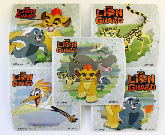 Lion Guard stickers available from Playingwithcolor2 Etsy store