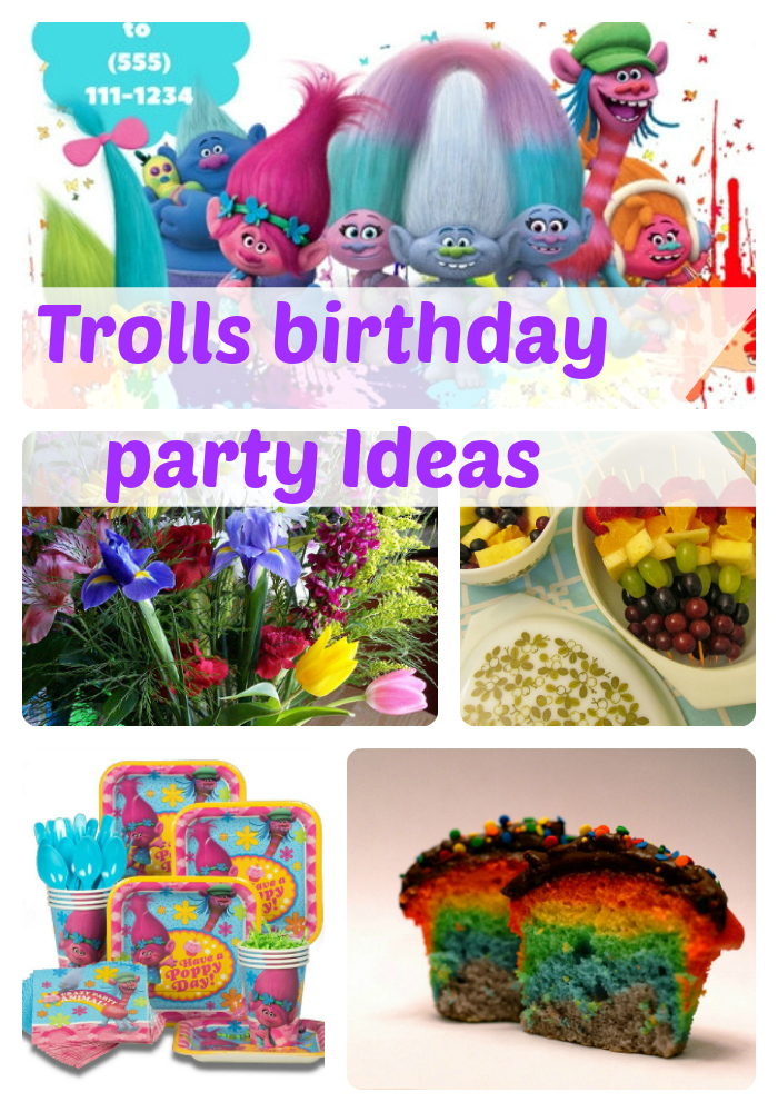 Trolls birthday party ideas and supplies