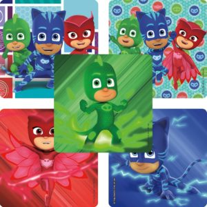 PJ Masks birthday party favors stickers