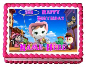 Sheriff Callie cake decorations