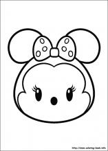 Tsum Tsum party games coloring pages