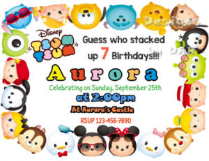 tsum tsum party invitations