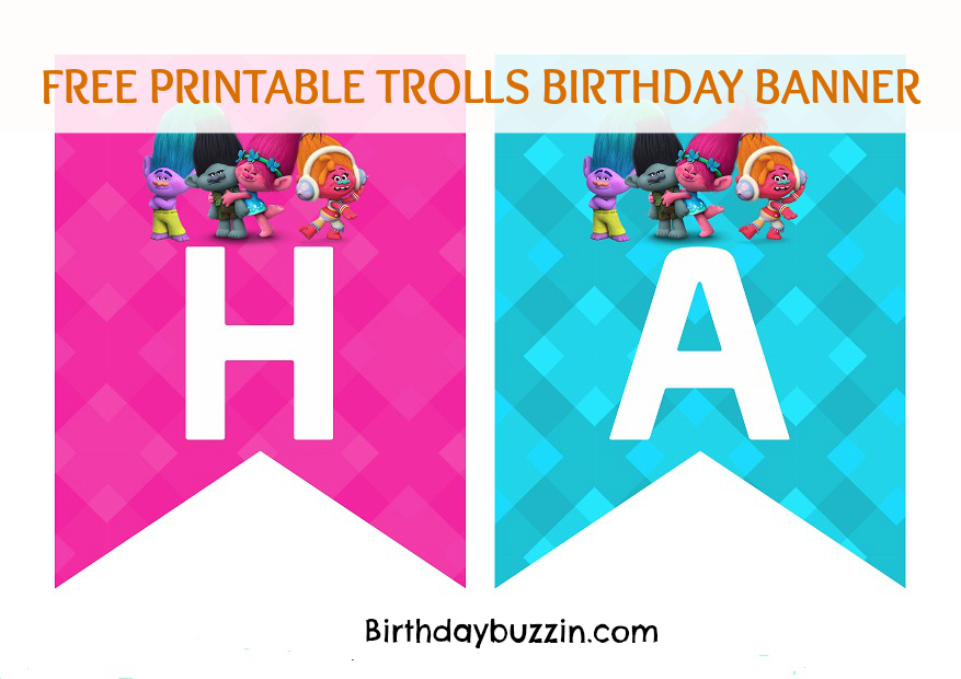 Free-printable-Trolls-birthday-banner