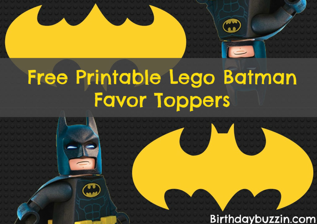 Free Printable Lego Batman Favor Toppers