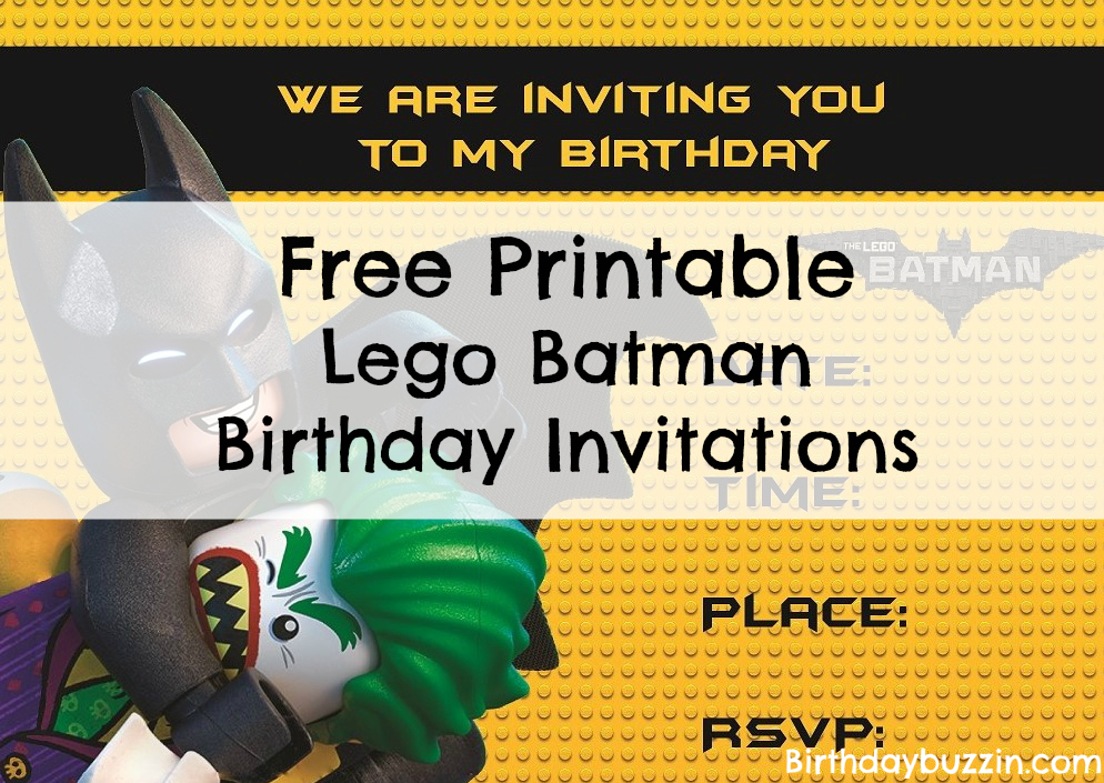 Free printable lego batman birthday invitations birthday buzzin filmwisefo Choice Image