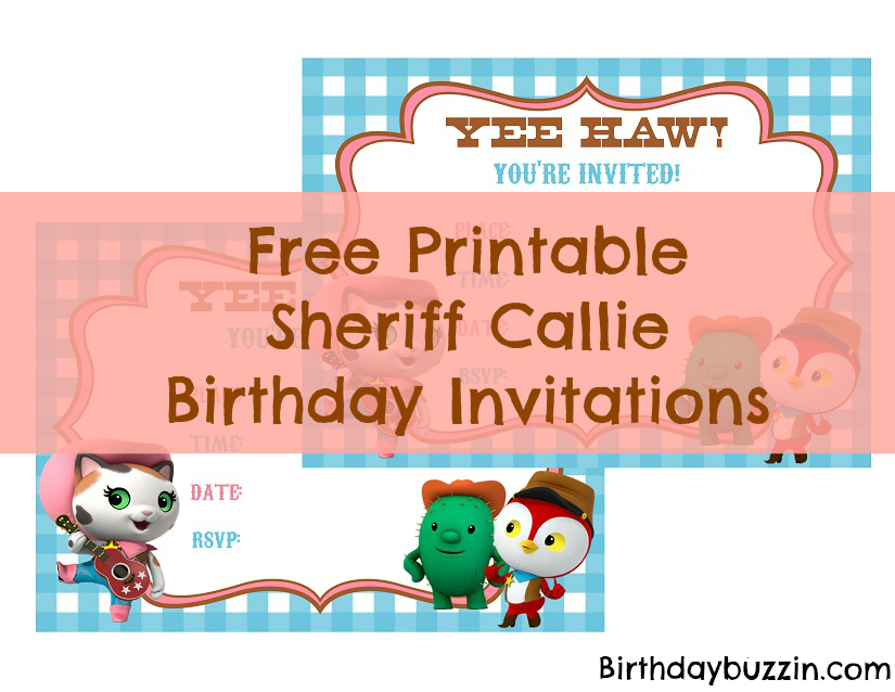 Free Printable Sheriff Callie Birthday Invitations Birthday Buzzin