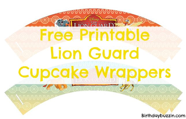 Free printable Lion Guard cupcake wrappers