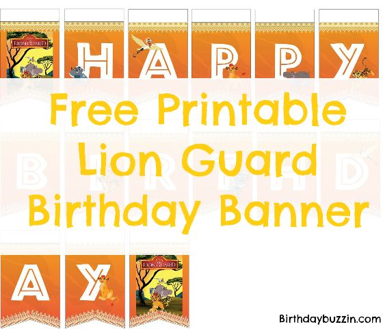 free printable Lion Guard birthday banner