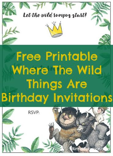 Free Printable Where the Wild Things Are Birthday Invitations
