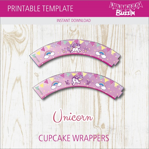 image about Printable Cupcake Wrappers called Free of charge Printable Rainbow Unicorn Cupcake Wrappers Birthday