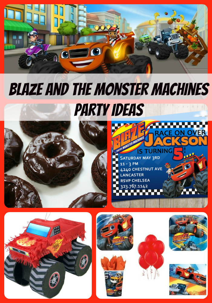 Blaze And The Monster Machines Birthday Party Supplies Theme Ideas