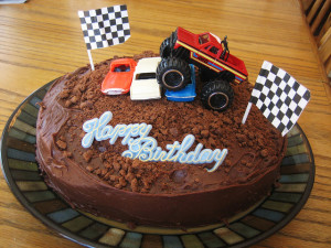 How To Decorate A Red Truck Theme Cake