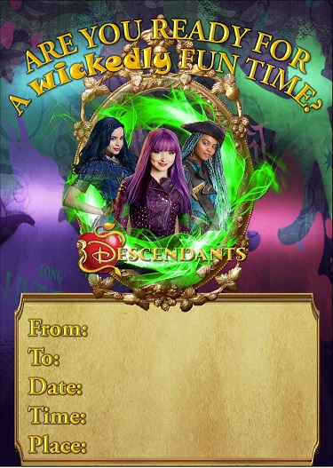 Descendants 2 Birthday Invitations