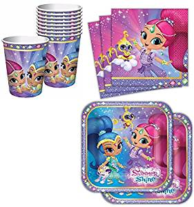 Shimmer And Shine Tableware Party Table Setup
