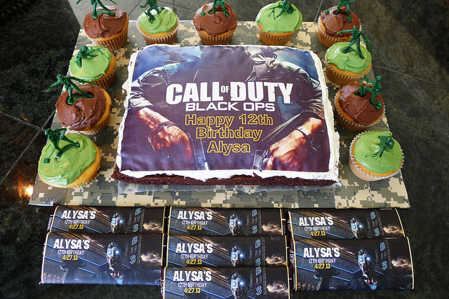 Awesome Call Of Duty Birthday Cake Birthday Buzzin Funny Birthday Cards Online Inifodamsfinfo