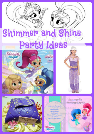 Shimmer And Shine Birthday Party Ideas Themed