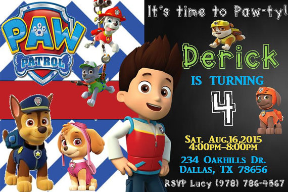 Paw Patrol Birthday Party Invitations And Ideas
