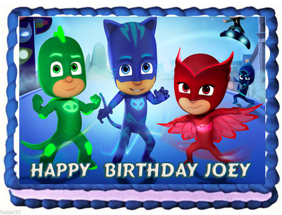 PJ Masks Edible Cake Topper Available From DolceCakeToppers Etsy Store