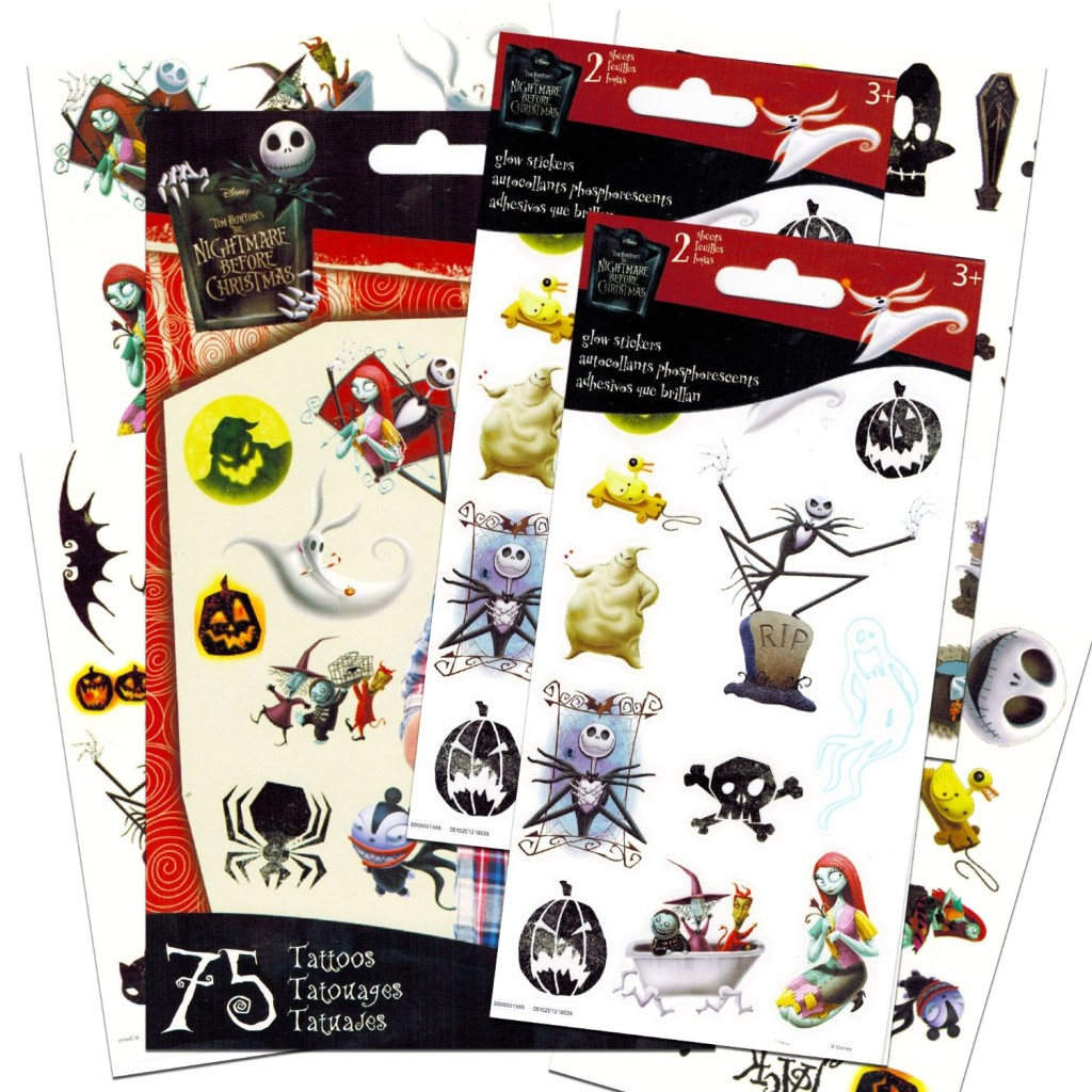 nightmare before christmas tattoo favors - Nightmare Before Christmas Birthday Decorations
