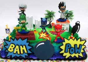 PJ Masks Birthday Cake Toppers