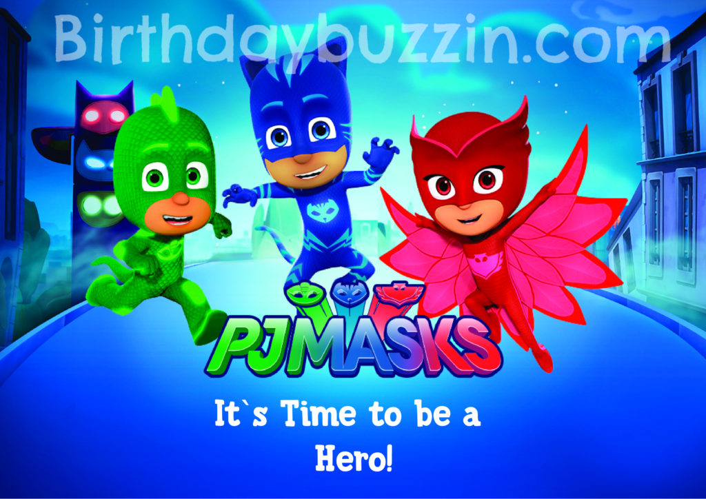 photo regarding Pj Masks Printable Images referred to as cost-free Pj Masks birthday printables Archives Birthday Buzzin