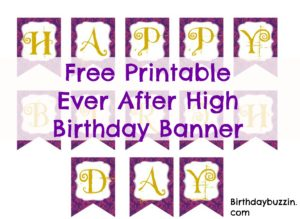 photograph about Free Printable Birthday Signs identified as Cost-free Printable At any time Right after Superior Birthday Banner Birthday Buzzin