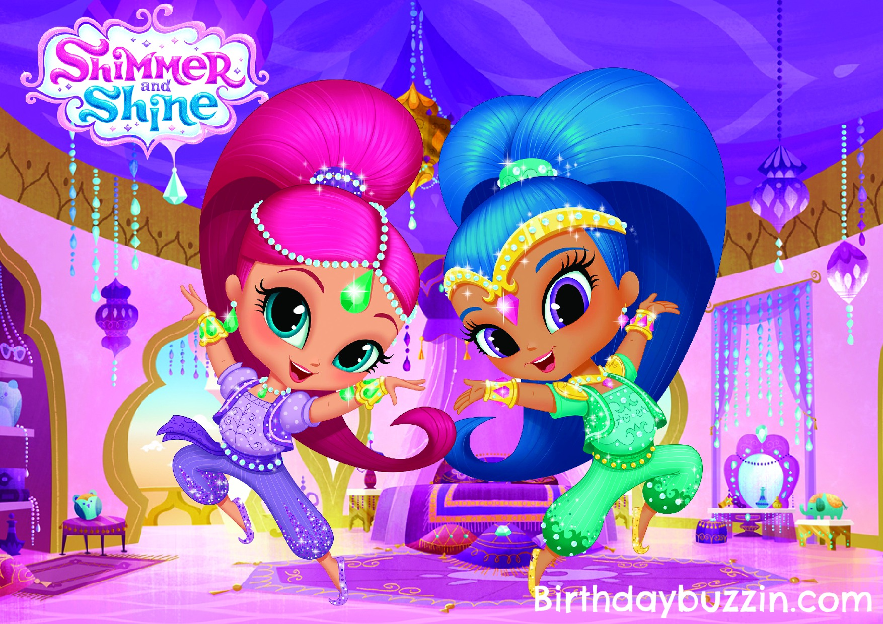 Printable Shimmer And Shine Placemat Birthday Buzzin