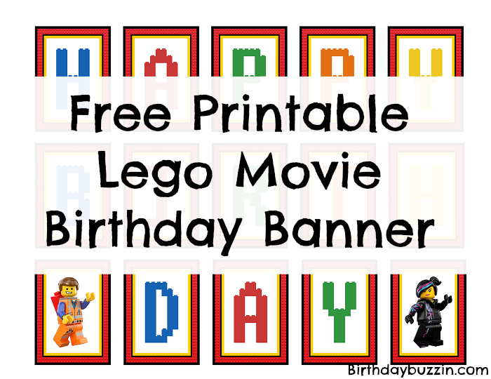 picture about Free Printable Birthday Banner identified as Free of charge Printable Lego Video clip Birthday Banner Birthday Buzzin