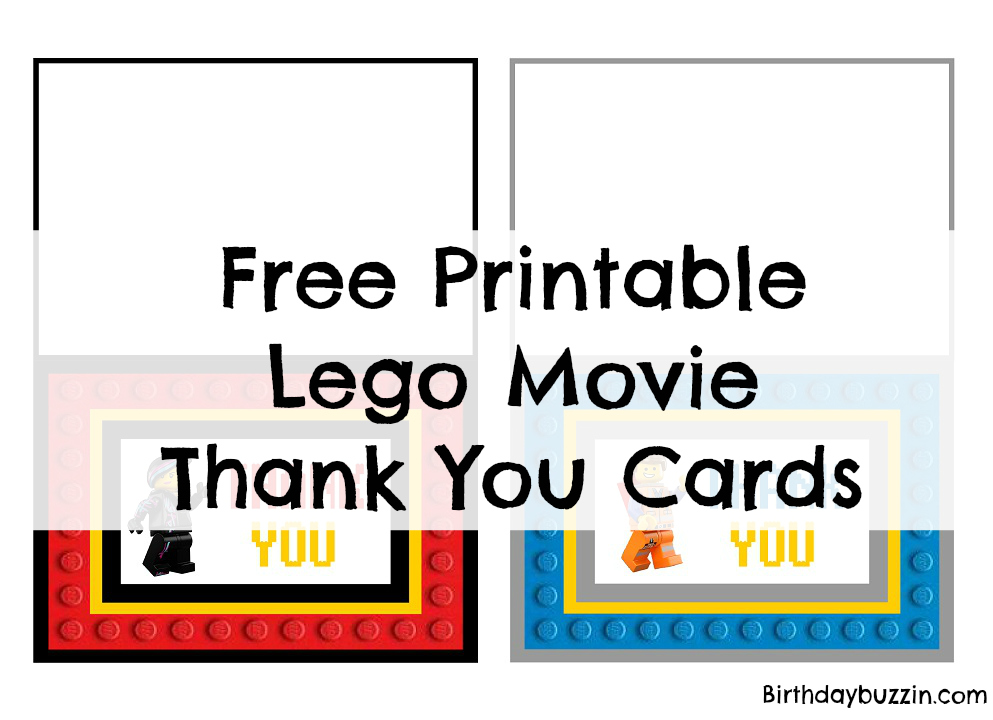 picture about Thank You Printable referred to as Absolutely free Printable Lego Online video thank Yourself playing cards Birthday Buzzin