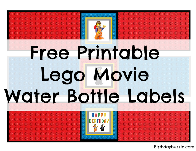 image about Printable Water Bottle Labels Free identified as Cost-free printable Lego Video H2o Bottle Labels Birthday Buzzin