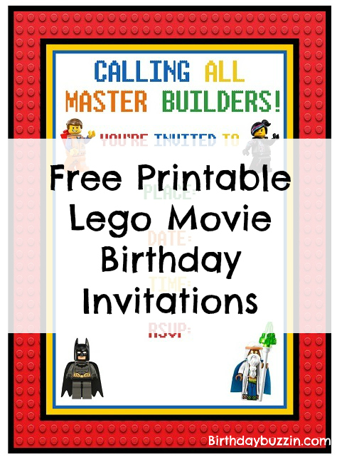 picture about Printable Lego Birthday Invitations identified as Free of charge Printable Lego Online video birthday invites Birthday Buzzin