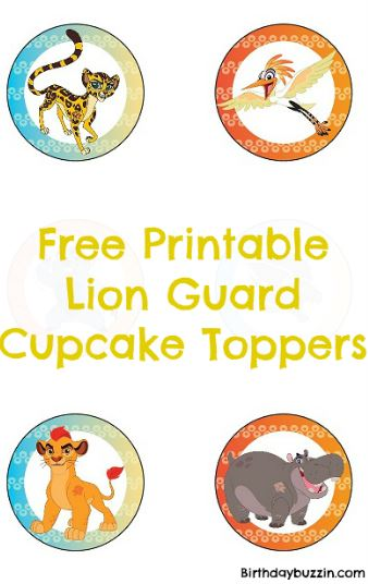 Free Printable Lion Guard Cupcake Toppers