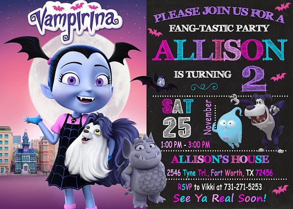 Vampirina Birthday Invitations