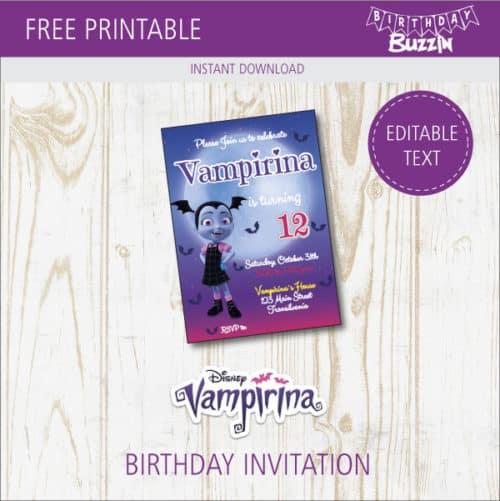 free printable vampirina birthday invitations birthday buzzin