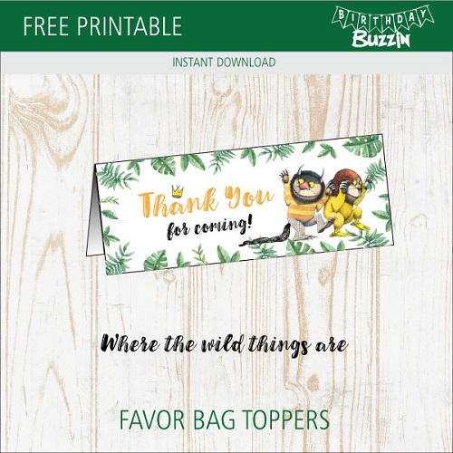photo about Free Printable Bag Toppers named No cost Printable In which the Wild Variables Are Like Bag Toppers