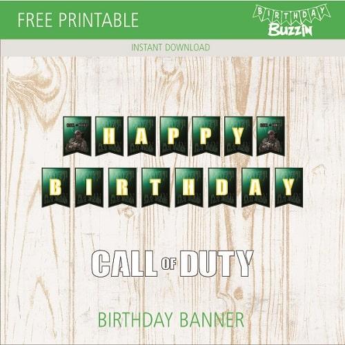 Free Printable Call Of Duty Birthday Banner