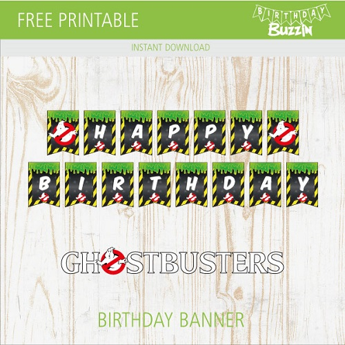 photograph about Ghostbusters Printable identified as Absolutely free Printable Ghostbusters Birthday Banner Birthday Buzzin