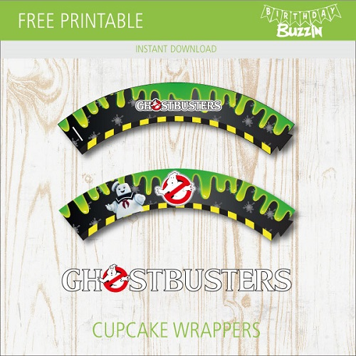 This is a photo of Ghostbusters Printable with regard to cupcake toppers
