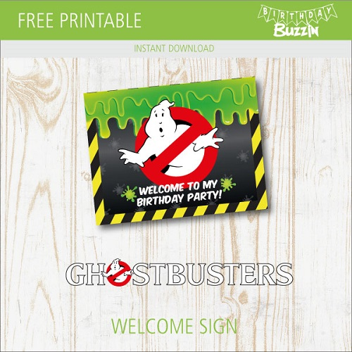 picture relating to Ghostbusters Printable called Ghostbusters birthday celebration printables Archives Birthday