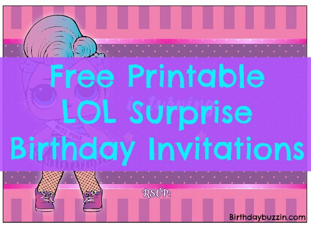 free printable lol surprise birthday party invitations birthday buzzin