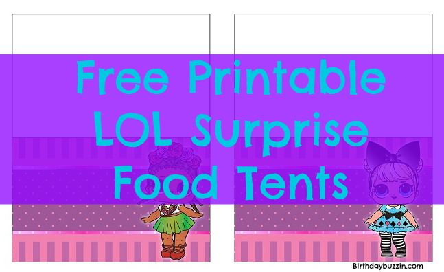 photo about Printables Food known as Free of charge Printable LOL Marvel Food items Tents Birthday Buzzin