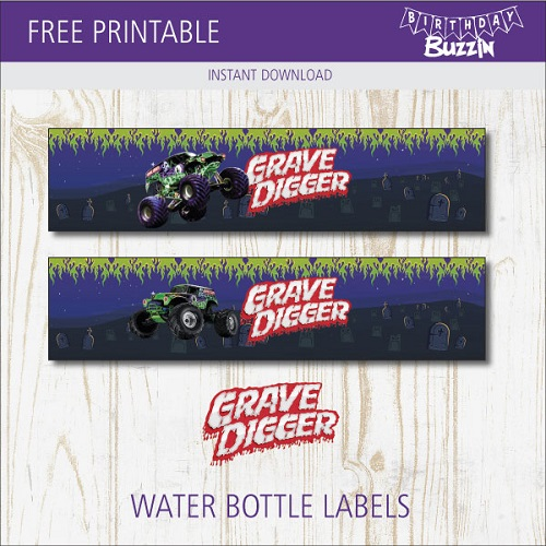 Grave Digger Birthday Party Printables Archives