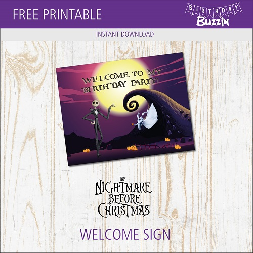 Nightmare Before Christmas Birthday Party Printables Archives